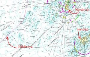Hilderøya-kart